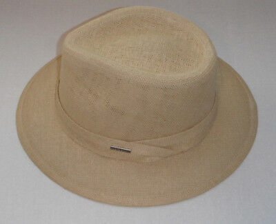 a2d7a78af55 STETSON MEN S SIZE LARGE Fedora Hat TARPON toyo straw NEW -  24.99 ...