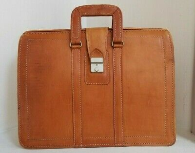 Vintage Leatehr Briefcase / Work Bag - Free Shipping!!! - Nice!!!