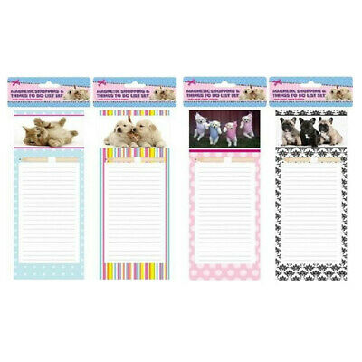 1PC Magnetic Shopping List with Pencil Planner To do List Office  Cute Animals