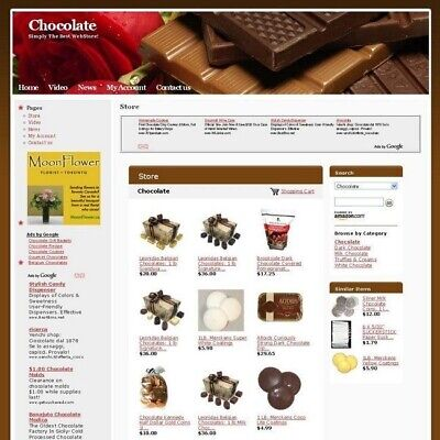 Established Home Based Income Chocolate Store Online Business Website For Sale!