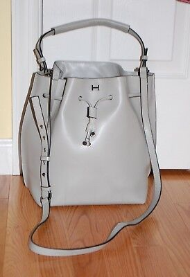 b0458a63d1 H BY HALSTON Smooth Leather Drawstring Bucket Handbag -  35.00 ...