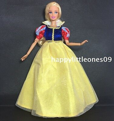 New Barbie Doll Dress/Clothes/Outfit with Red Shoes - Disney Princess Snow White