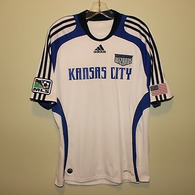 vintage MLS Sporting Kansas City Wizards 2009-10 away shirt Adidas jersey L  rare 6d91ac809