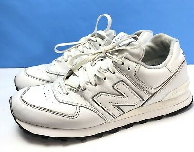 separation shoes e1ab5 dcb4f NEW BALANCE 574 Leather Shoes Triple White All White Men's Size 9.5