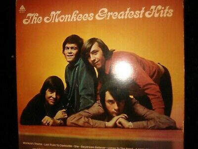 The Monkees  Greatest Hits 1972 Vinyl Album Record LP I'm a believer/last train