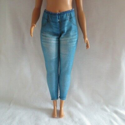 NEW Barbie Daisy Travel Curvy Doll Denim Look Jeans Pants ~ Fashionista Clothing