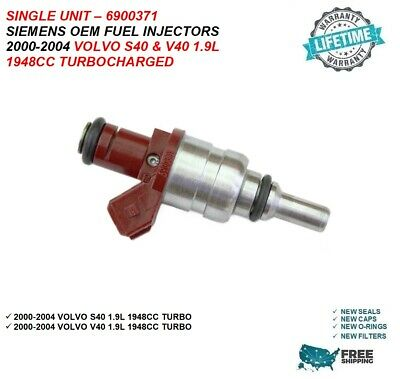Siemens Flow Matched Fuel Injector Set for Volvo S40 V40 Turbo 1.9 6900371 4