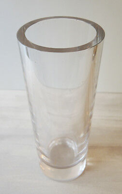 Grand Vase Tube en Cristal Ancien