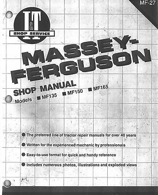 MASSEY FERGUSON SERVICE Manual Tractor 135 150 165 -MF-27