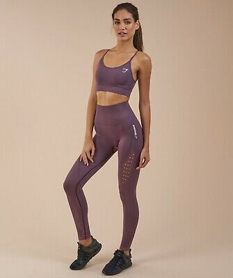 8577cbd9a820ca Gymshark Energy Seamless High Waisted Leggings & Sports Bra Set Purple Wash  Size