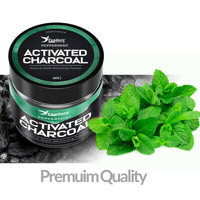Activated charcoal powder teeth whitening Organic Black Flavored mint 60g