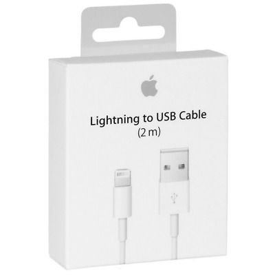 Genuine 2m Apple Lightning Data Cable Charger for iPhone 7 7 Plus 6 5S 6 iPad