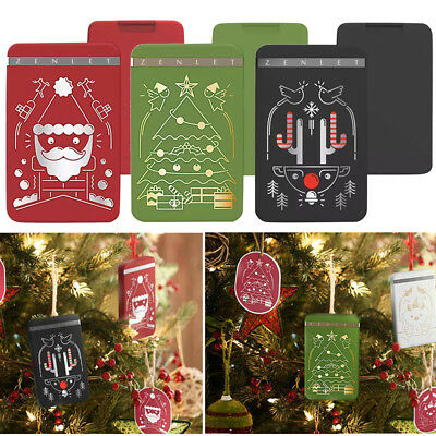 Christmas Style Zenlet Credit Card Anti-side Action Wallet Push-pull Card Holder