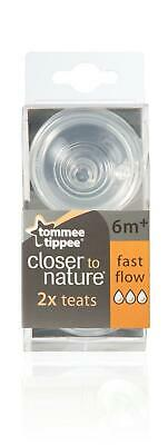 Tommee Tippee Closer to Nature Easivent Teats Fast Flow 2 Teats