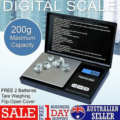 NEW 200g 0.01g DIGITAL POCKET SCALES JEWELLERY PRECISION ELECTRONIC WEIGHT LAB