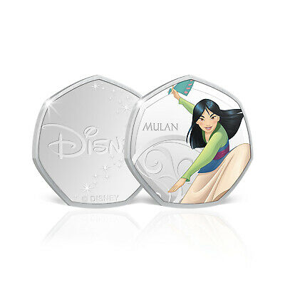 Disney Princess Birthday Gifts Mulan 50p Shaped Limited Edition Collectable Coin