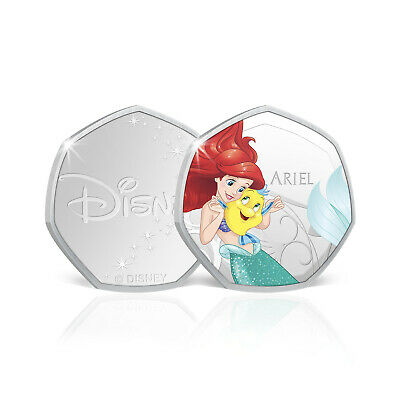 Disney Princess Gifts Ariel Little Mermaid 50p Shaped Collectable Coin