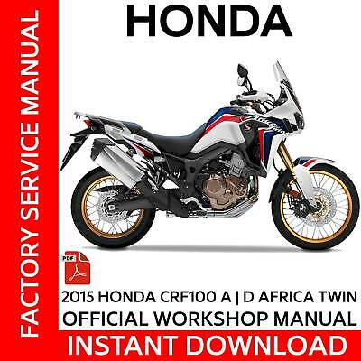 HONDA CRF1000 | A & DCT AFRICA TWIN Official Factory Workshop Service manual OEM