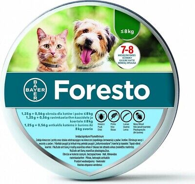 Bayer Foresto Flea amp Tick Collar for Small Dogs and Cats under 18lbs