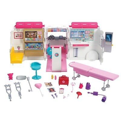 Brand New Girls Barbie Care Clinic Playset with Accessories