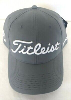 fcd694a3434 Titleist Tour Performance Men s Golf Hat 2019 NEW Adjustable Charcoal White