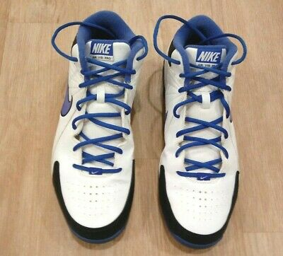 save off 55145 49b09 Nike Air Visi Pro Men s Basketball Shoes Size 11.5 White Blue Black Great  Gift