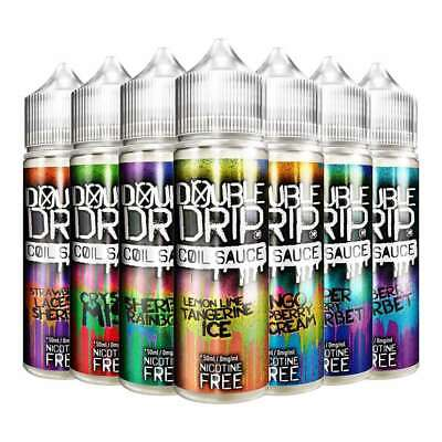 Double Drip E Liquid Coil Sauce Vape Juice 80/20, FREE NIC SHOT AT NO EXTRA COST