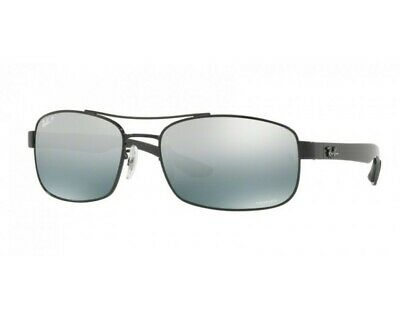 4e3c5e268 Occhiali sole Ray Ban Tech RB8322CH 002/5L 62 Black blue mir grey gradient  polar