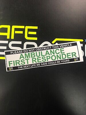 Sticker 245mm AMBULANCE FIRST RESPONDER Sign Car Van Emergency Response ST24527