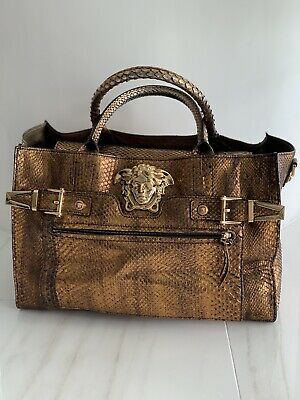 6fff9f243b2a BNWT 100% AUTH VERSACE Medusa Stud Tribute Tote Bag with shoulder ...