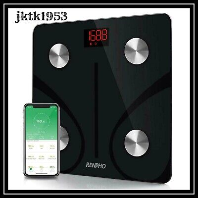 RENPHO Bluetooth Body Fat Scale Smart BMI Scale Digital Bathroom Wireless...