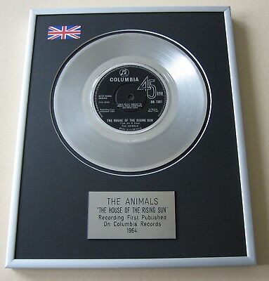 THE ANIMALS The House Of The Rising Sun PLATINUM PRESENTATION DISC