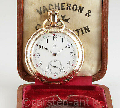 Vacheron & Constantin Geneva 14k gold Art Nouveau  Pocket Watch Chronometer 1900