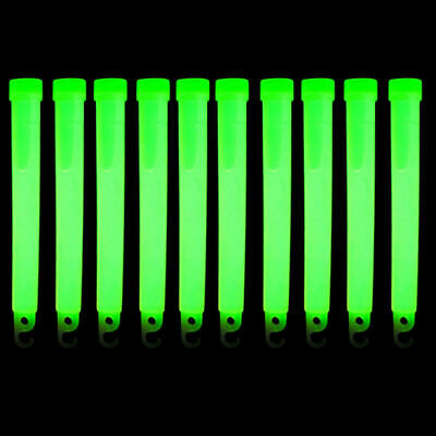 """Scuba Diving Safety 6"""" Glow Sticks 10pc Pack (Green)"""