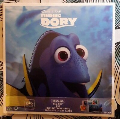 Finding Dory - Big Sleeve Edition (with DVD,Bly-ray and Art Cards) NEW