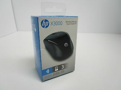 HP x3000 Wireless Mouse- Black H2C22AA#ABL