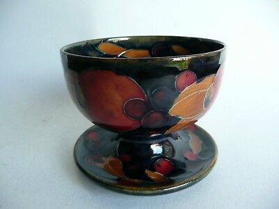 Antique 1920's Moorcroft Pomegranate Tazza Raised Bowl........ref.1552