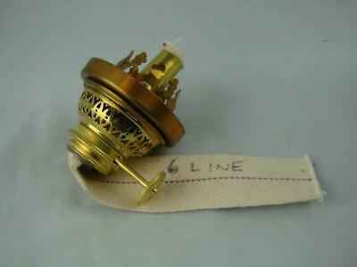 New Polished Brass Kosmos 6''' Gaudard Oil Lamp Burner + Gallery And Wick