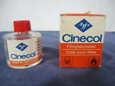 Vintage Agfa Cinecol Film Cement Boxed
