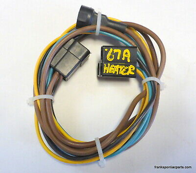 1967 gto lemans tempest non air heater control wire harness 66 67