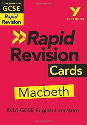 York Notes for AQA GCSE (9-1) Rapid Revision Cards: Macbeth Cards – 1292273631