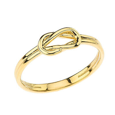 Solid 10k14k Yellow Gold The Hercules Love Knot  Ring