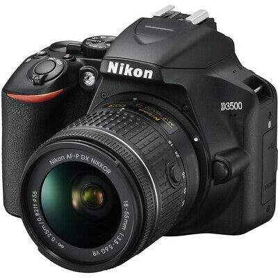 Nikon D3500 Digital SLR Camera w AF-P DX NIKKOR 18-55mm f/3.5-5.6G VR Lens Black
