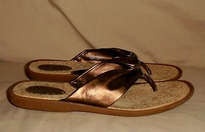 4fbbe8fe6a59 Women s Brown Bronze Leather B.O.C BORN Sandals Size 11 M GREAT Condition