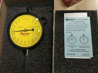 P1 Starrett Dial Indicator 655-161J  Brand New In Orginal Box