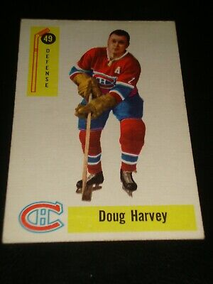 newest 06db0 40889 1954-55 PARKHURST #14 Doug Harvey Montreal Canadiens ...