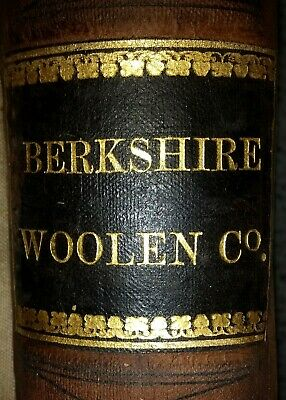 BERKSHIRE COUNTY TEXTILE CO. Great Barrington MA Handwritten Ledger/Account Book