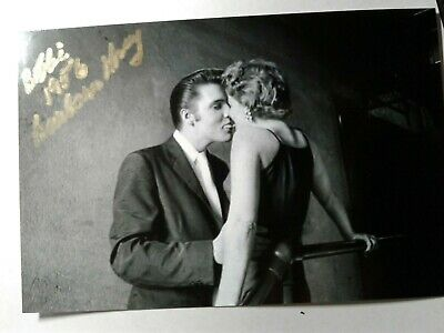Barbara Gray Hand Signed 4X6 Photo with Elvis Presley THE KISS 1956 - VERY RARE