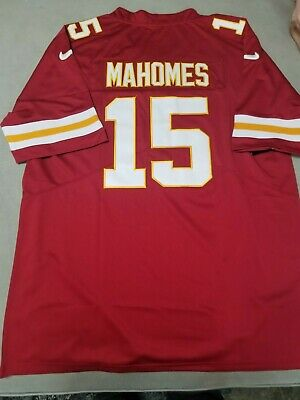 8ed27dbf6 Kansas City Chiefs  15 Patrick Mahomes Red Home Jersey Men s Size Large