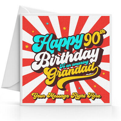 Personalised 90th Birthday Card Male Husband Grandad Uncle Brother Dad Friend